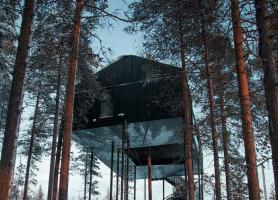 تماشای شفق قطبی در سوئد آن هم بر روی هتل هایی که روی درخت ساخته شده اند