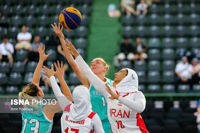 دختران بسکتبال سه نفره ایران با اقتدار به مرحله یک چهارم نهایی صعود کردند