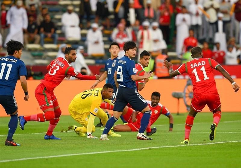 جام ملت های آسیا، فزونی یک نیمه ای ژاپن مقابل عمان، پنالتی عمان گم شد