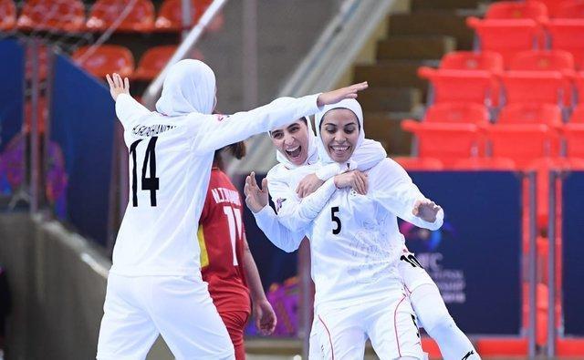 ایران 5 - ویتنام صفر، جام قهرمانی آسیا در یک قدمی دختران فوتسال ایران