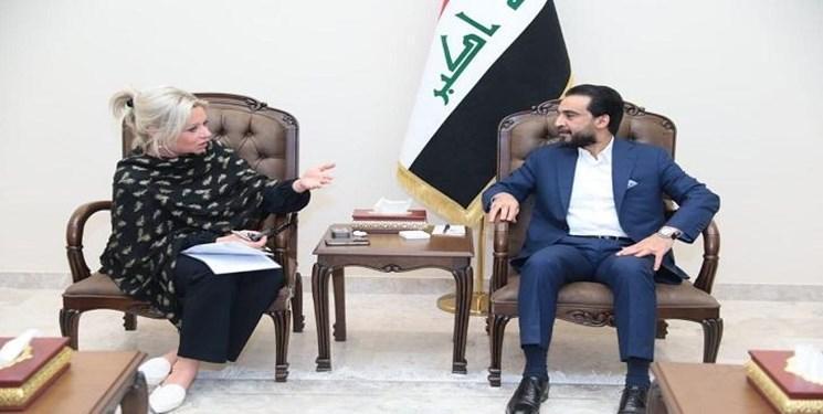 رایزنی نماینده سازمان ملل با رئیس مجلس عراق درباره گفت وگوی ملی