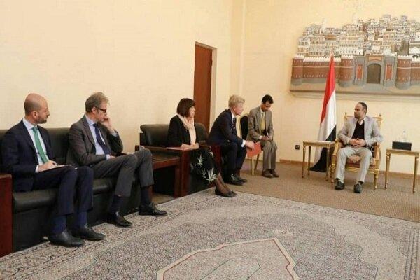 ملاقات رئیس شورای عالی سیاسی یمن با سفرای فرانسه و هلند