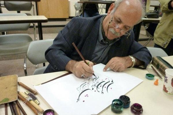 خوشحالم کارم بخشی از فرهنگ و هنر ایران است، توجه جهان به نستعلیق