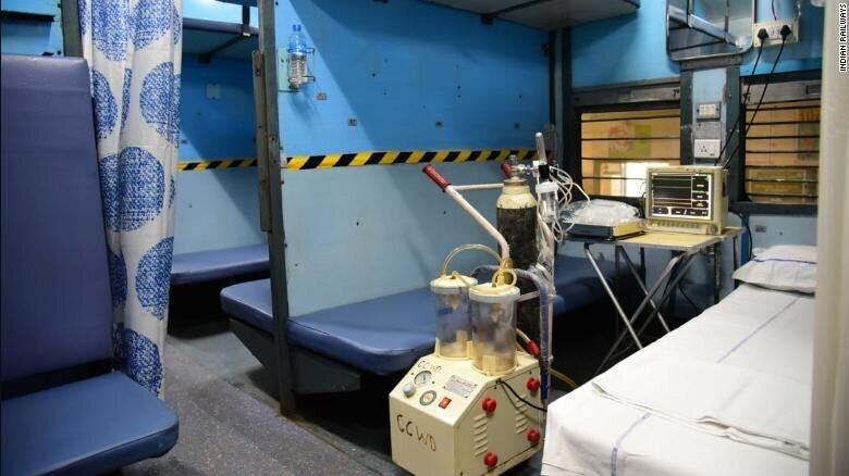 تبدیل واگن های قطار در هند به بیمارستان برای درمان کرونا ، قدیمی ترین راه آهن آسیا متوقف شد