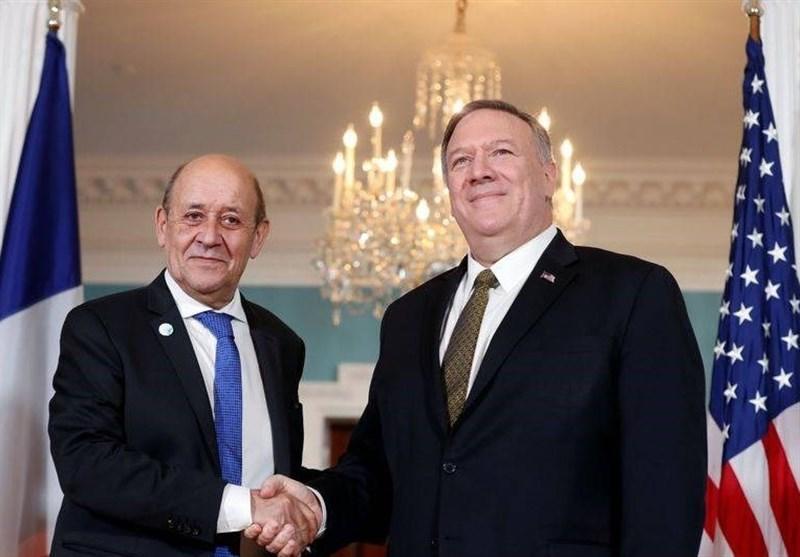 گفتگوی تلفنی پامپئو و همتای فرانسوی درباره کرونا و ایران