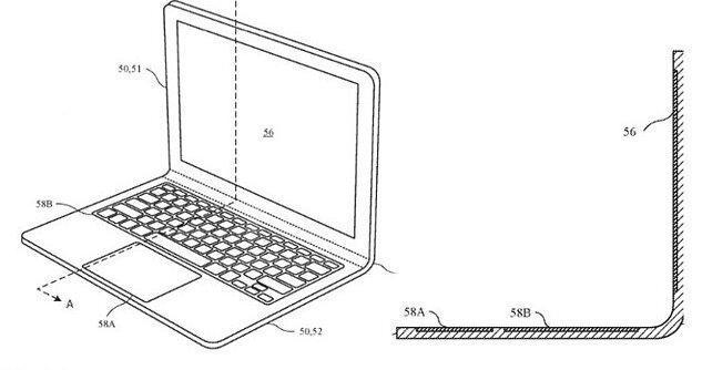 پتنت جدید اپل برای یک لپ تاپ تاشو