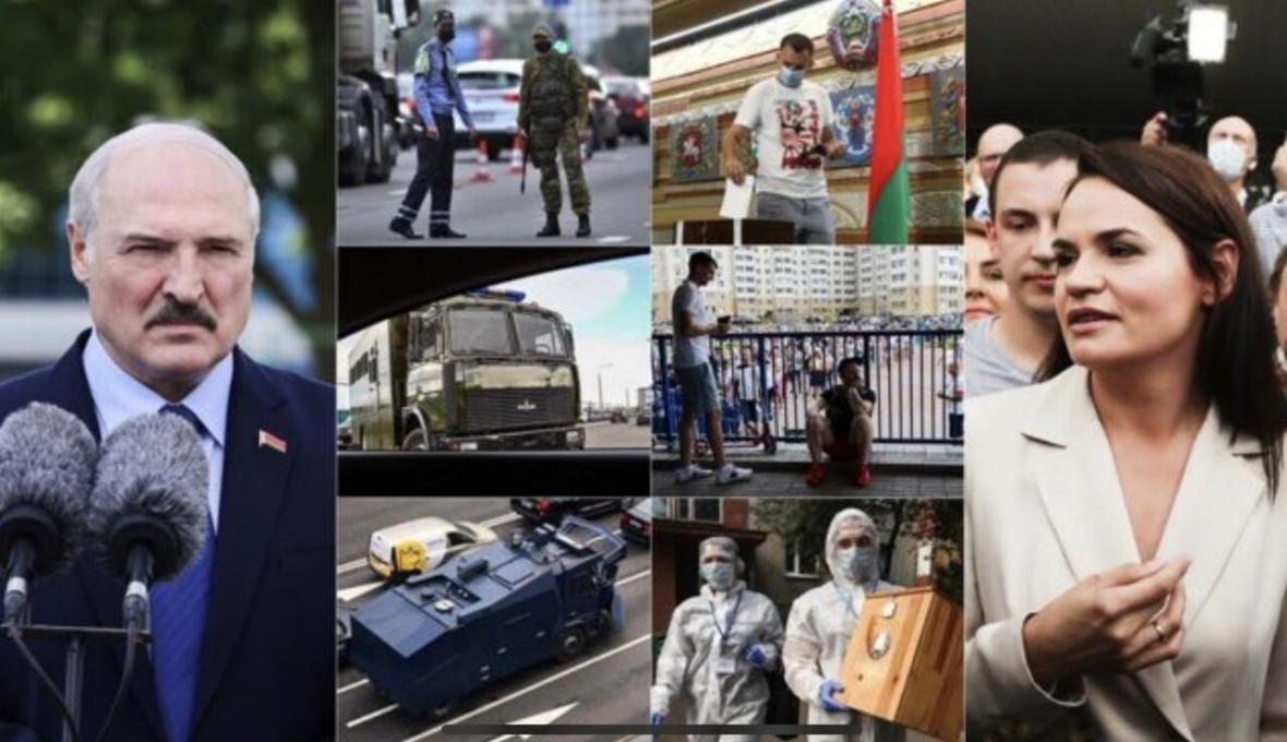 خبرنگاران با اعلام پیروزی لوکاشنکو مخالفان به خیابان ها آمدند