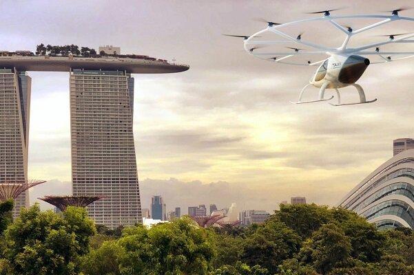 پروازهای جهانگردی تاکسی&zwnjهای هوایی در سنگاپور شروع می گردد