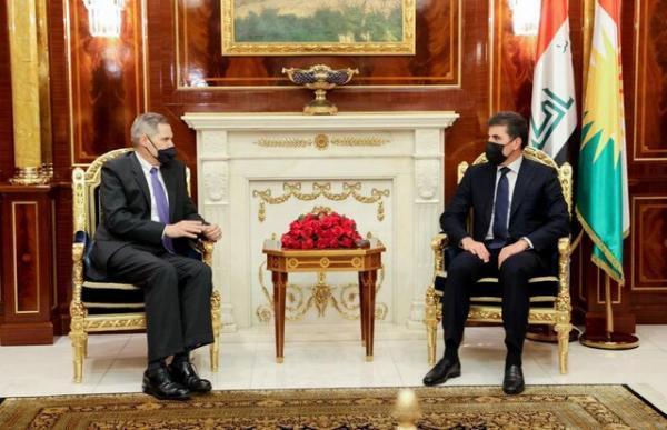 مذاکرات راهبردی عراق و آمریکا موضوع ملاقات بارزانی با سفیر واشنگتن