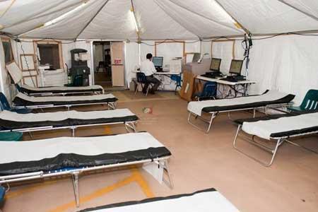 راه اندازی بیمارستان صحرایی مسیح دانشوری برای بیماران کرونایی