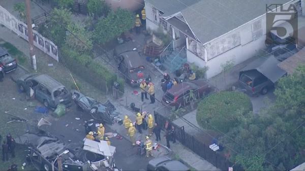 9 مجروح در انفجاری در لس آنجلس آمریکا