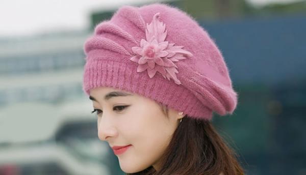 آموزش 3 مدل بافت کلاه دخترانه نو و زیبا (کج، برگی و ساده)