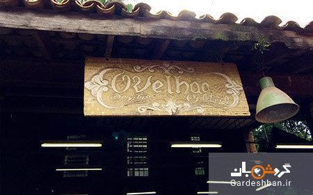 رستوران ویا در برزیل که از مواد بازیافتی ساخته شده